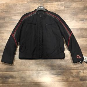 Men's motorcycle jacket size Large. New w tags.